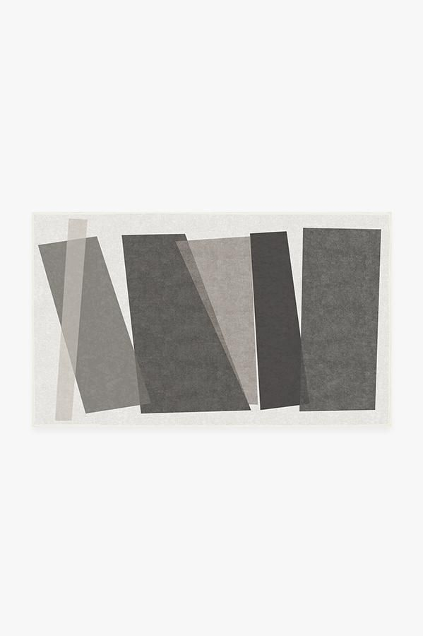 Color Field In Greyscale Rug Washable Area Rugs Washable Rugs