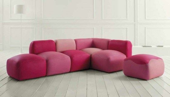 Hot Pink Living Room | Unique Pink Leather Sofa for Living Room ...