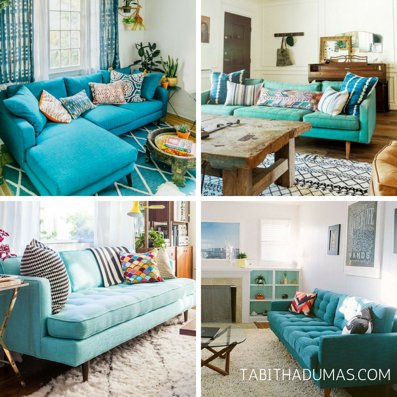 Why Turquoise Is My Signature Color Turquoise Living Room Decor Living Room Turquoise Lounge Room Styling #turquoise #couch #living #room