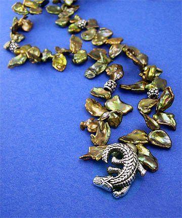 Blue Alligator Designs Alligator Dance Necklace