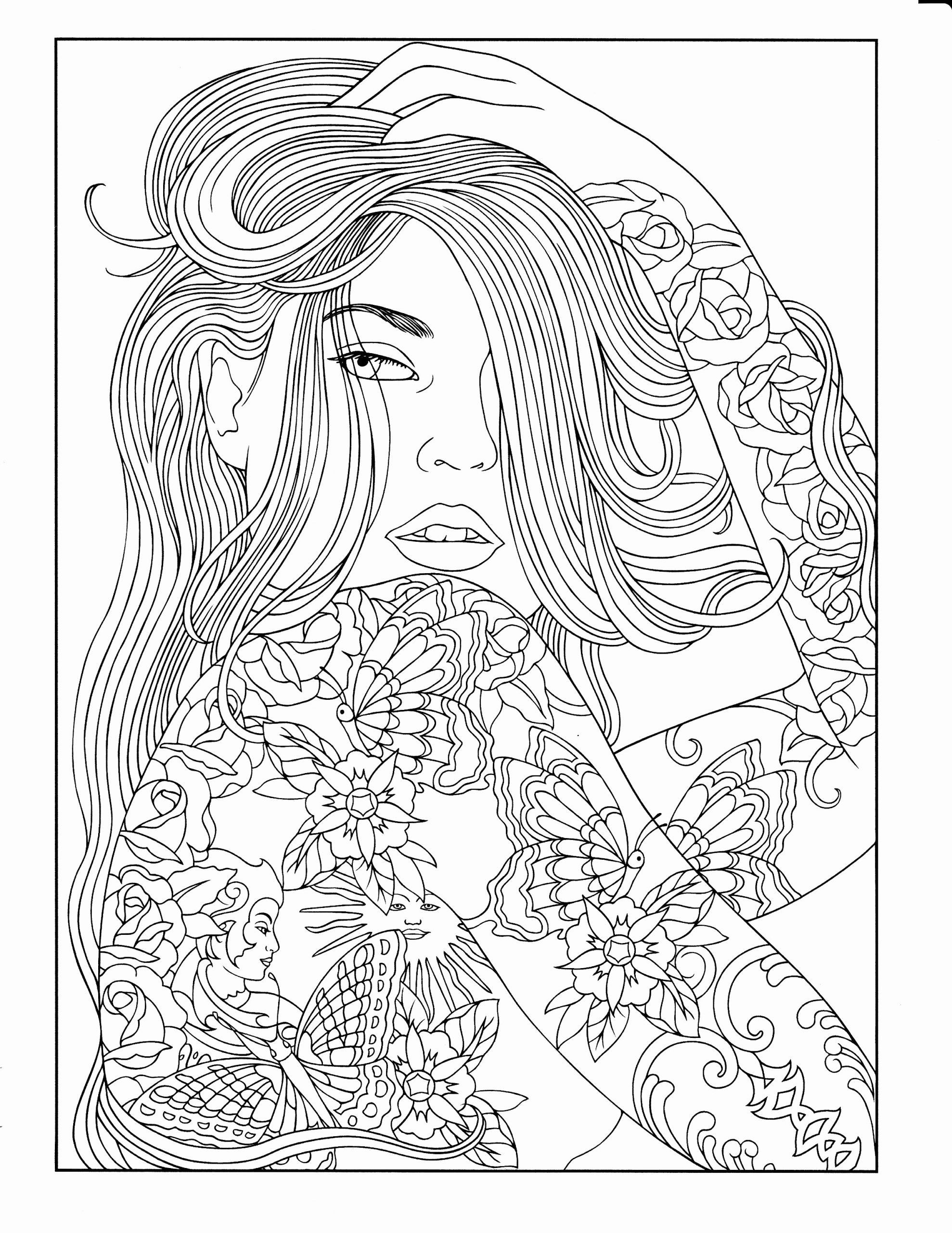 People Coloring Pages For Adults Inspirational Printable