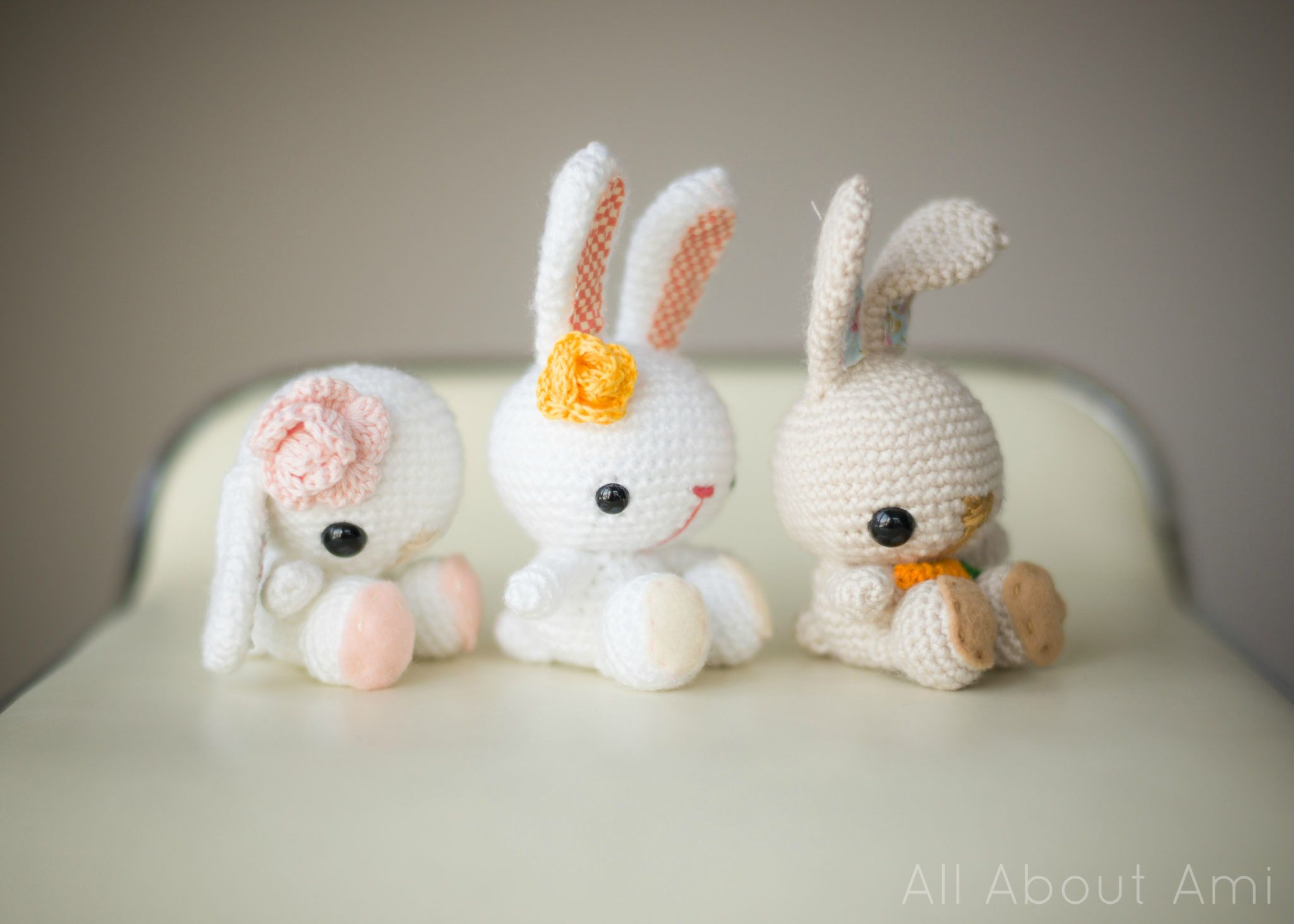 Amigurumi Bunny Free : Free pattern spring bunnies by all about ami amigurumi