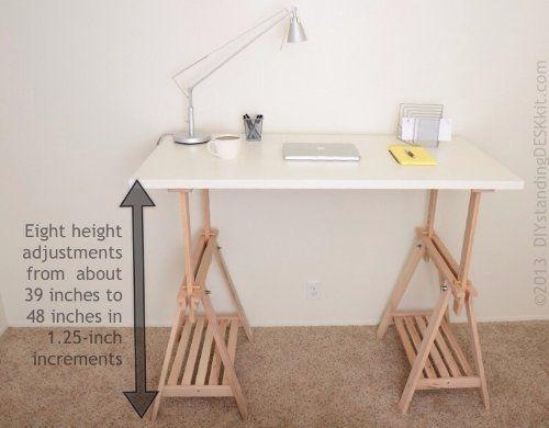 Great Way To Make Wood Adjustable Diy Standing Desk Kit Astradea