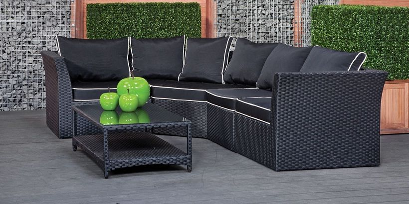 Astounding Small L Shaped Outdoor Sofa Couches And Furniture Rattan Home Remodeling Inspirations Genioncuboardxyz