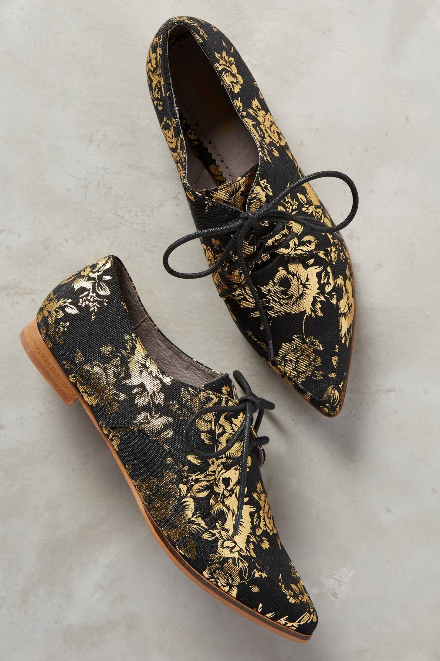 Farylrobin Gilded Rosebloom Oxfords - anthropologie.com