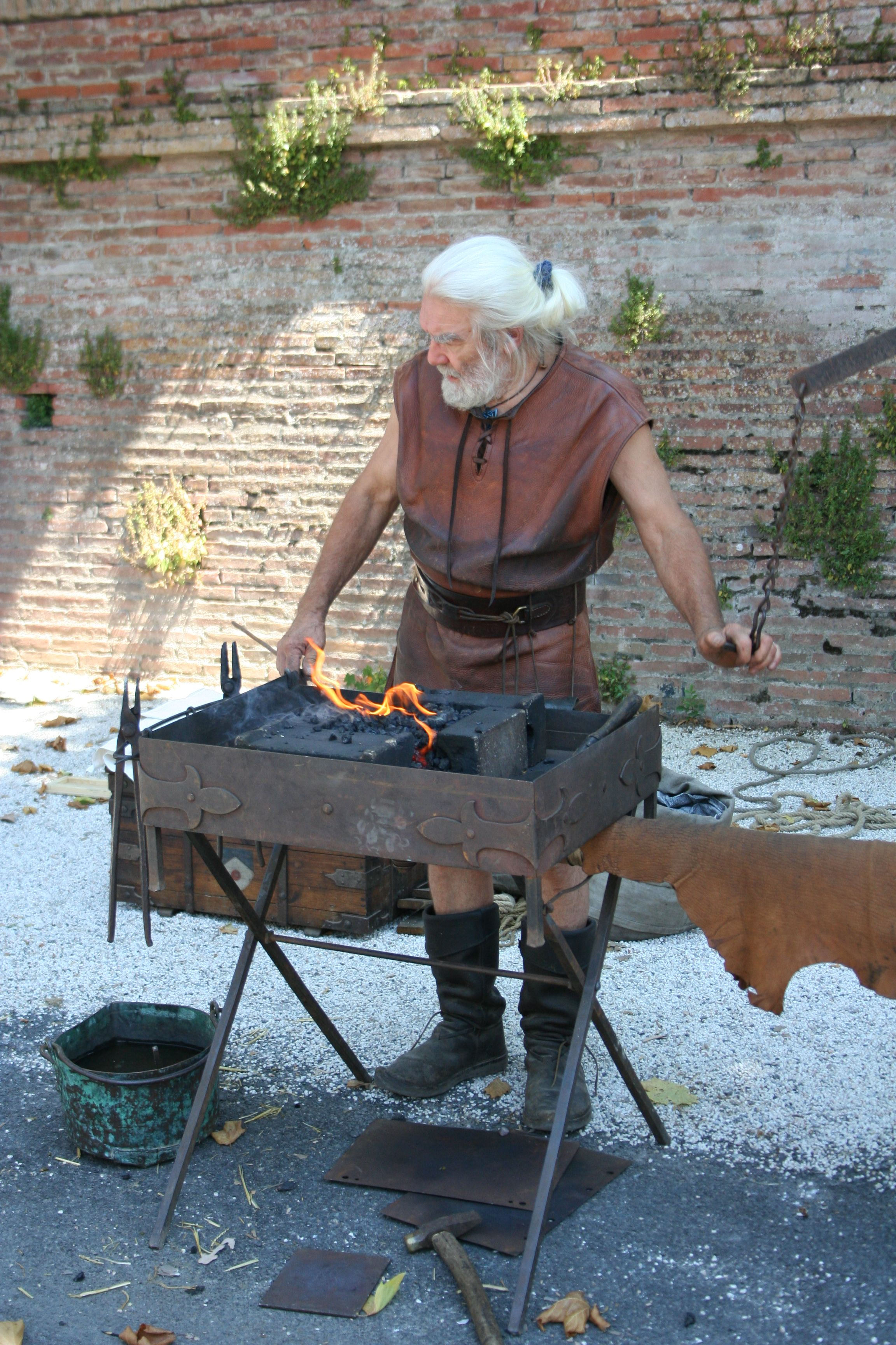 Renaissance blacksmith forge bellow blacksmithing pinterest