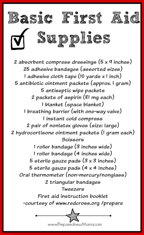 First Aid Kit Inventory | PreparednessMama