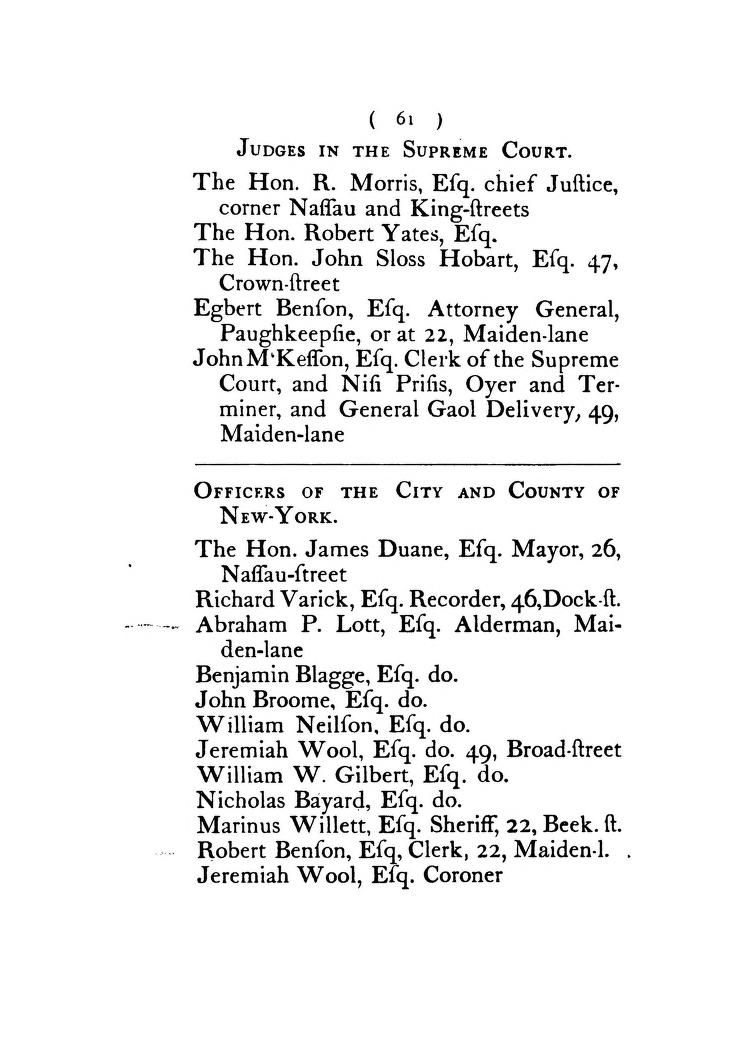 The New York Directory 1786 Franks David Free Download