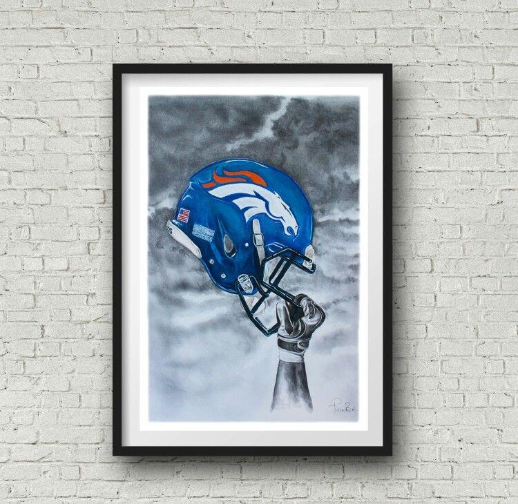 Denver broncos art Sports wall art, Art prints, Art
