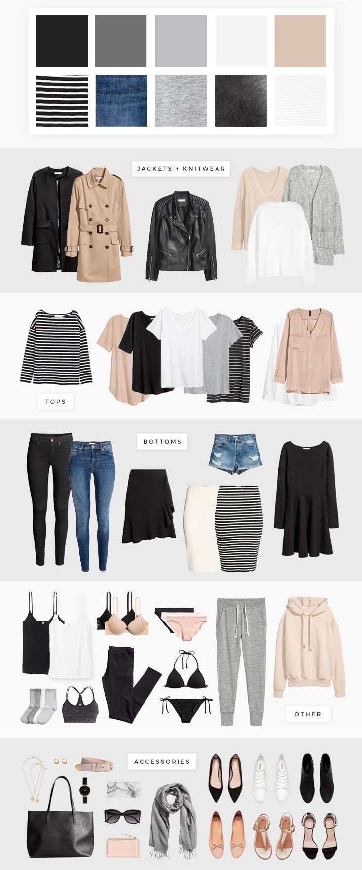 neutral wardrobe garde robe capsule nachhaltige mode mode grande taille tenues mode