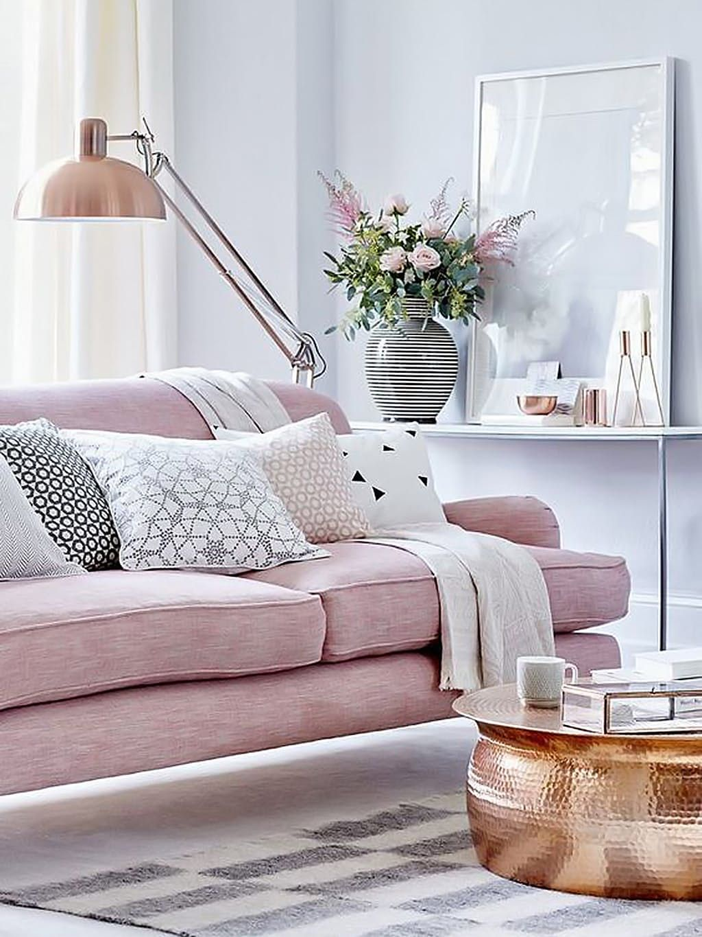 Blush is the New Neutral: Rooms That Get It Right | Gray, Living ...