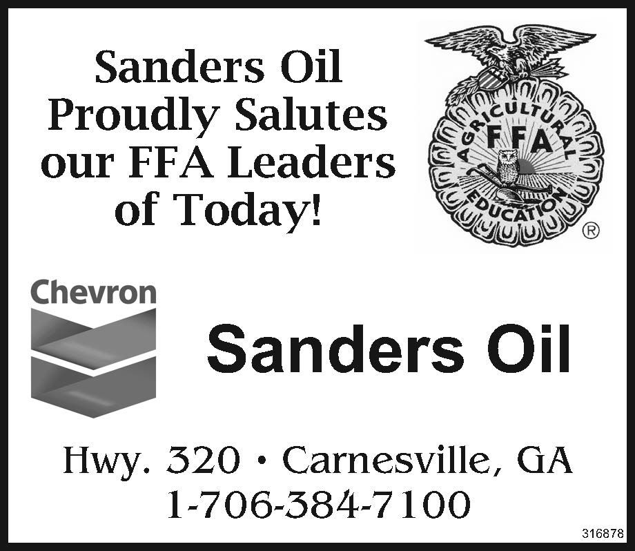 Sanders Oil Proudly Salutes Our Ffa Leaders Of Today Hwy 320 1