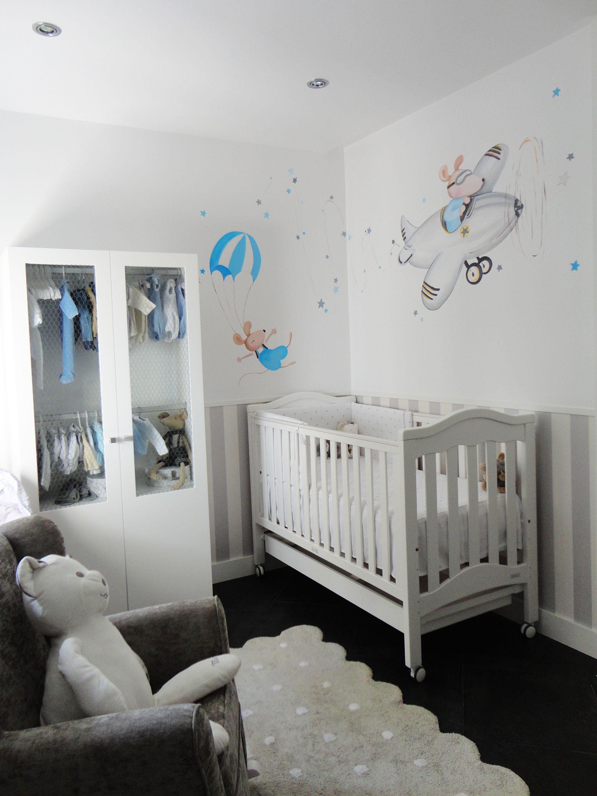 Murales infantiles murales pintados a mano sobre paredes - Ideas habitaciones bebe ...