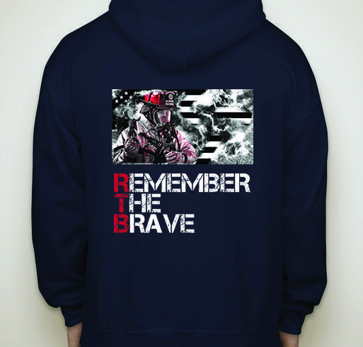 Remember The Brave - Men's Firefighter Patriotic Zippered Hoodie