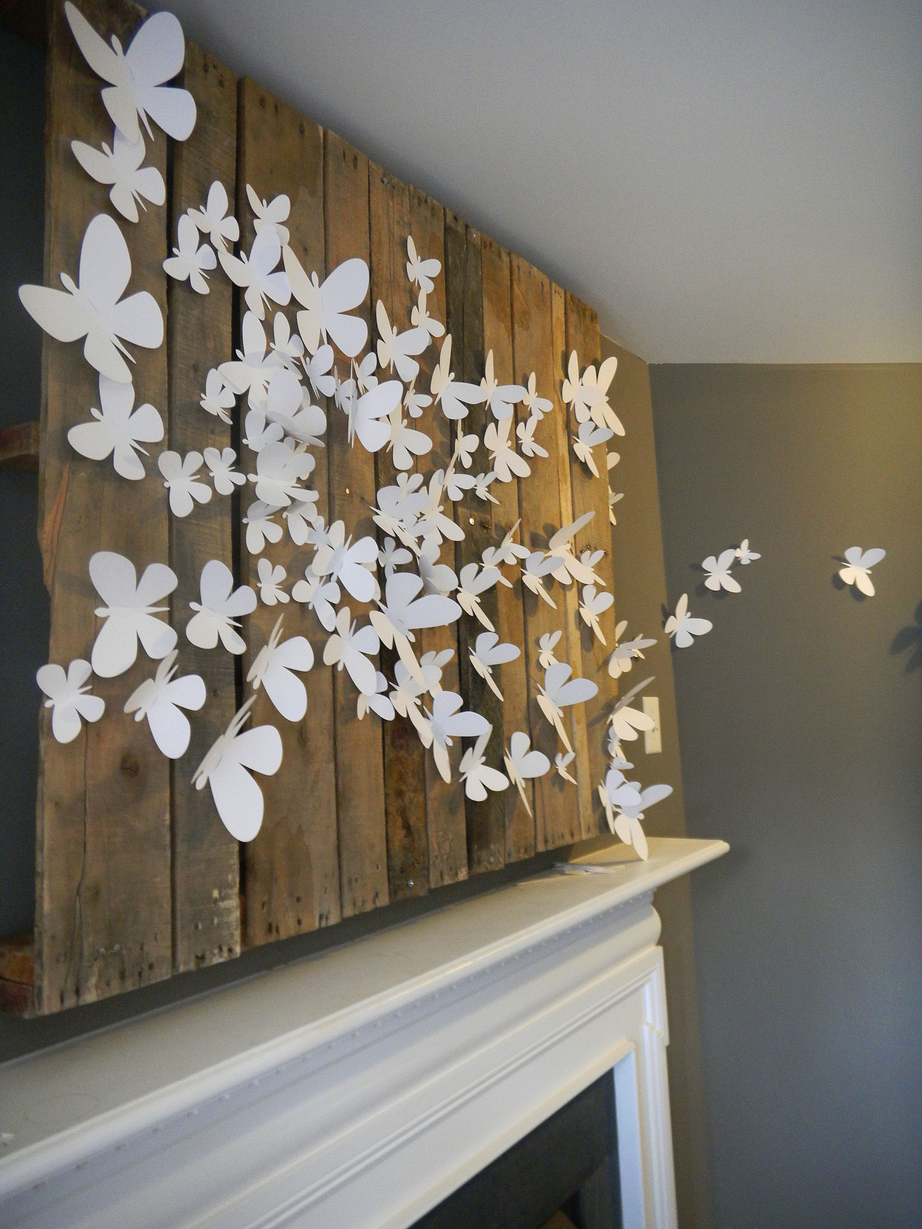 Decorate Your Home With Cute Butterfly Wall Decor Vintage Wall