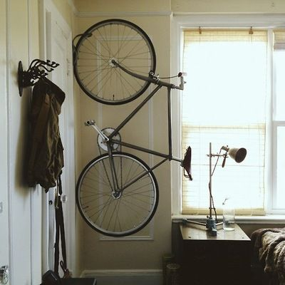 How To Hang A Bike Bike Storage Apartment Indoor Bike Storage