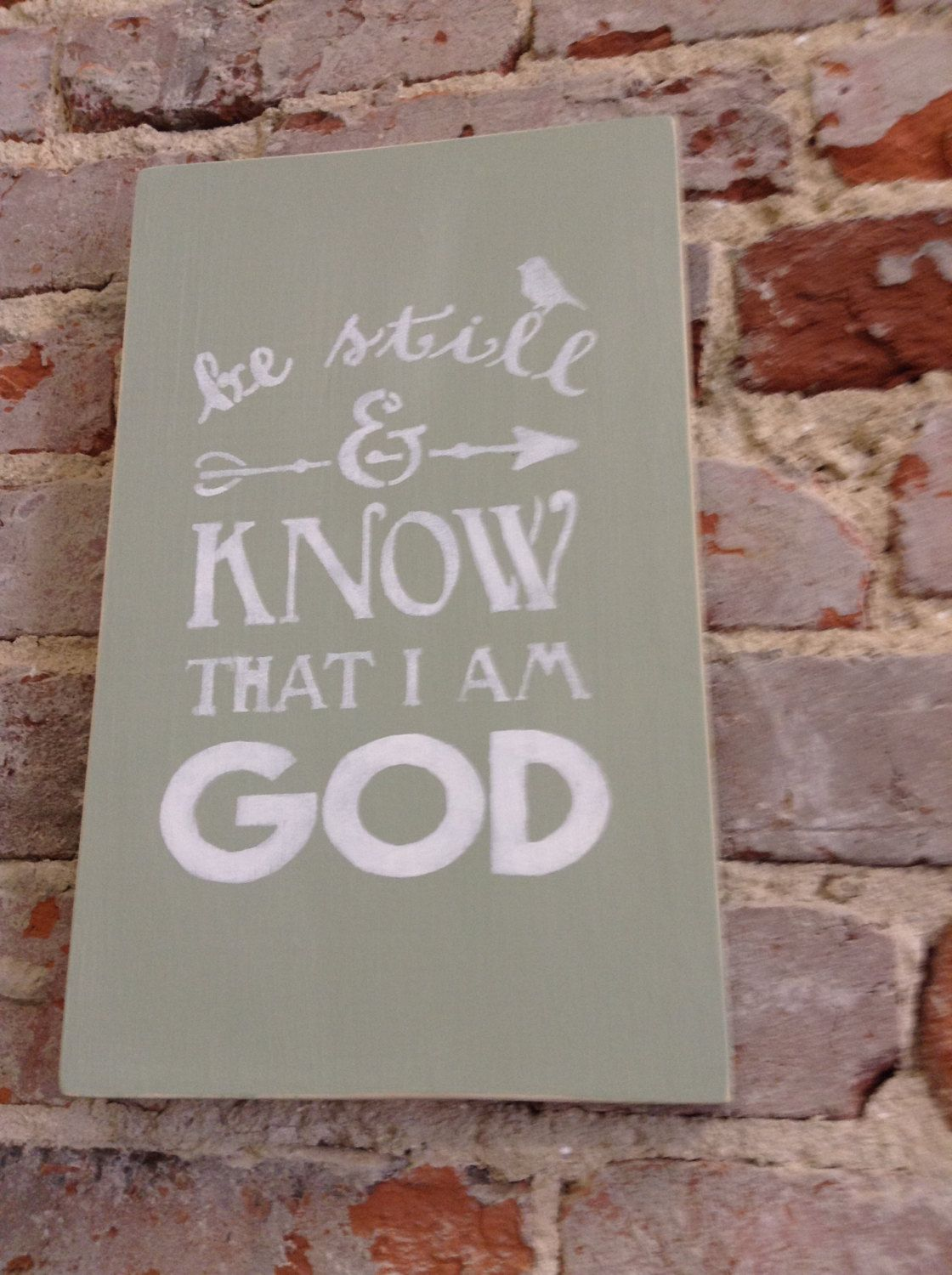 Be Still and Know that I Am God Sign/Distressed Sign/Scripture/Bibical by NAWLINSGIRLDESIGNS on Etsy