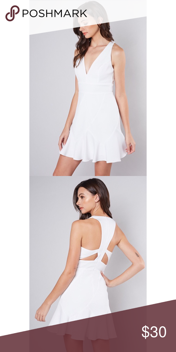 1ff66f04ae1 Dressy White Dress Super cute white dress with a cut out back. Brand new  never