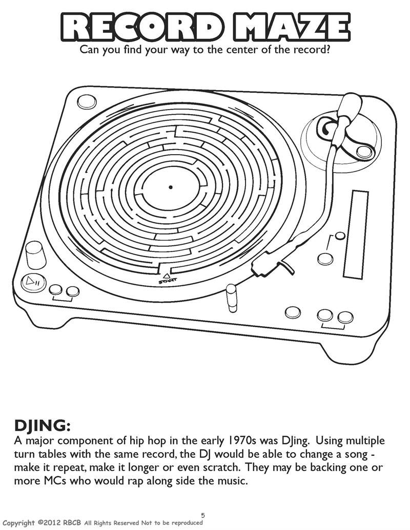 record maze - DJing | Ready-Made Worksheets - some are the personal ...