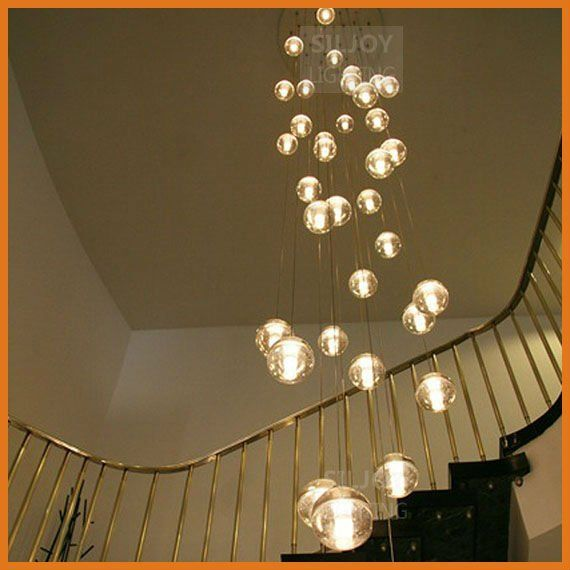 36 LIGHTS CONTEMPORARY CLEAR CAST GLASS SPHERE BALL METEOR – Chandelier Glass Balls