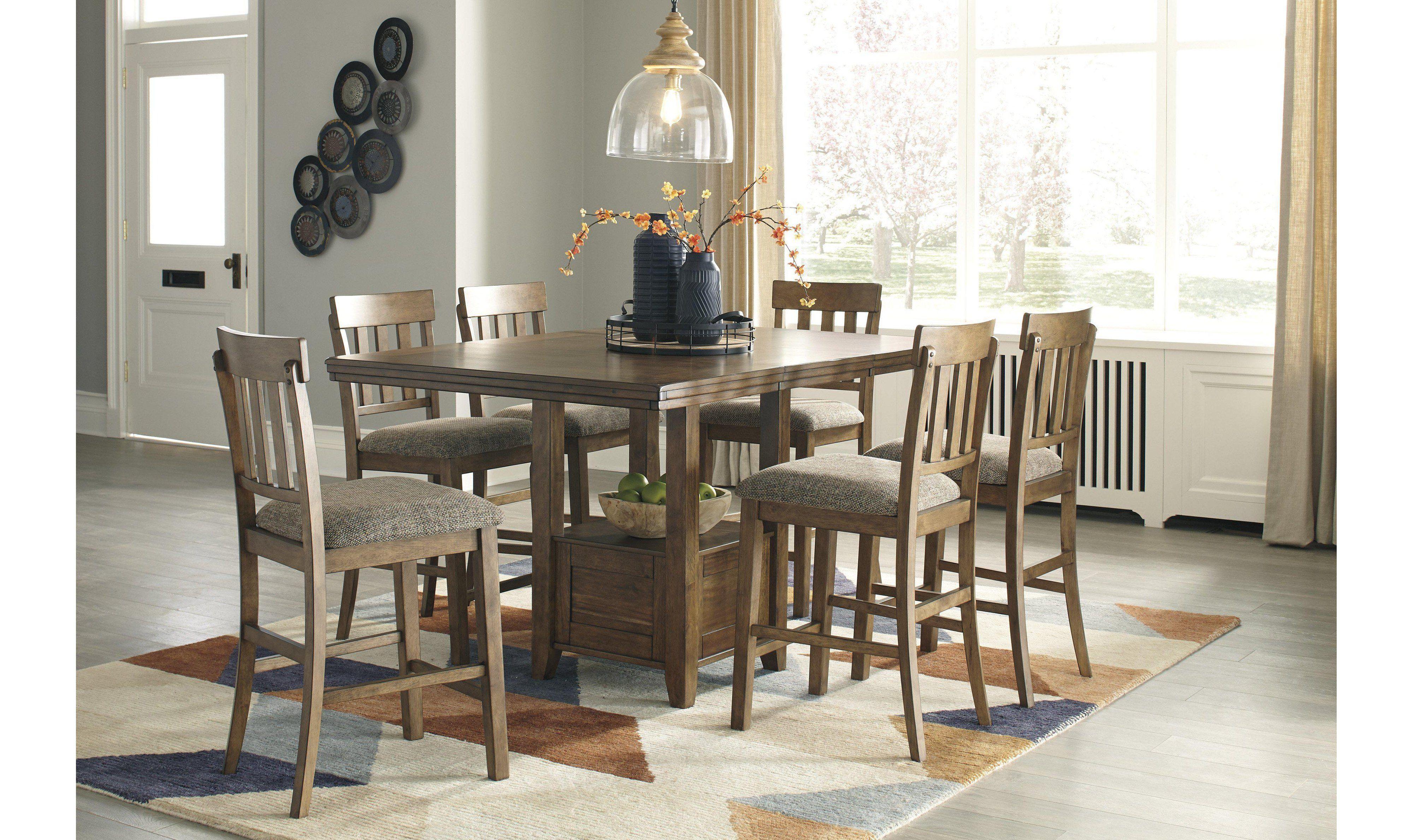 Haddigan Counter Dining Set, Haddigan Counter Height Dining Room Set