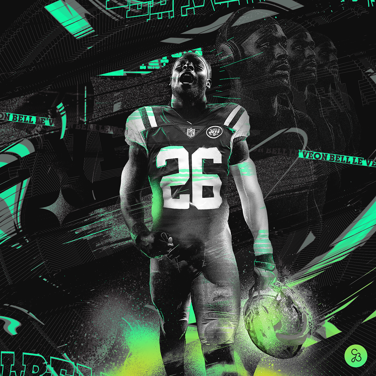 Le Veon Bell Ny Jets Graphic On Behance Ny Jets New York Jets Football New York Jets