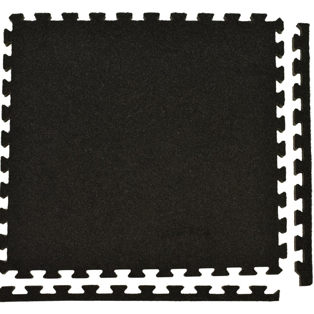 Greatmats Royal Carpet Charcoal Velour Plush 2 Ft X 2 Ft X 5 8