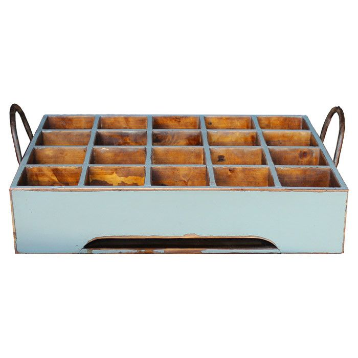 Provence Milk Crate Hang On The Wall For Storage In The