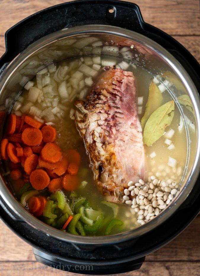 Instant Pot Ham Bone Bean Soup Recipe In 2020