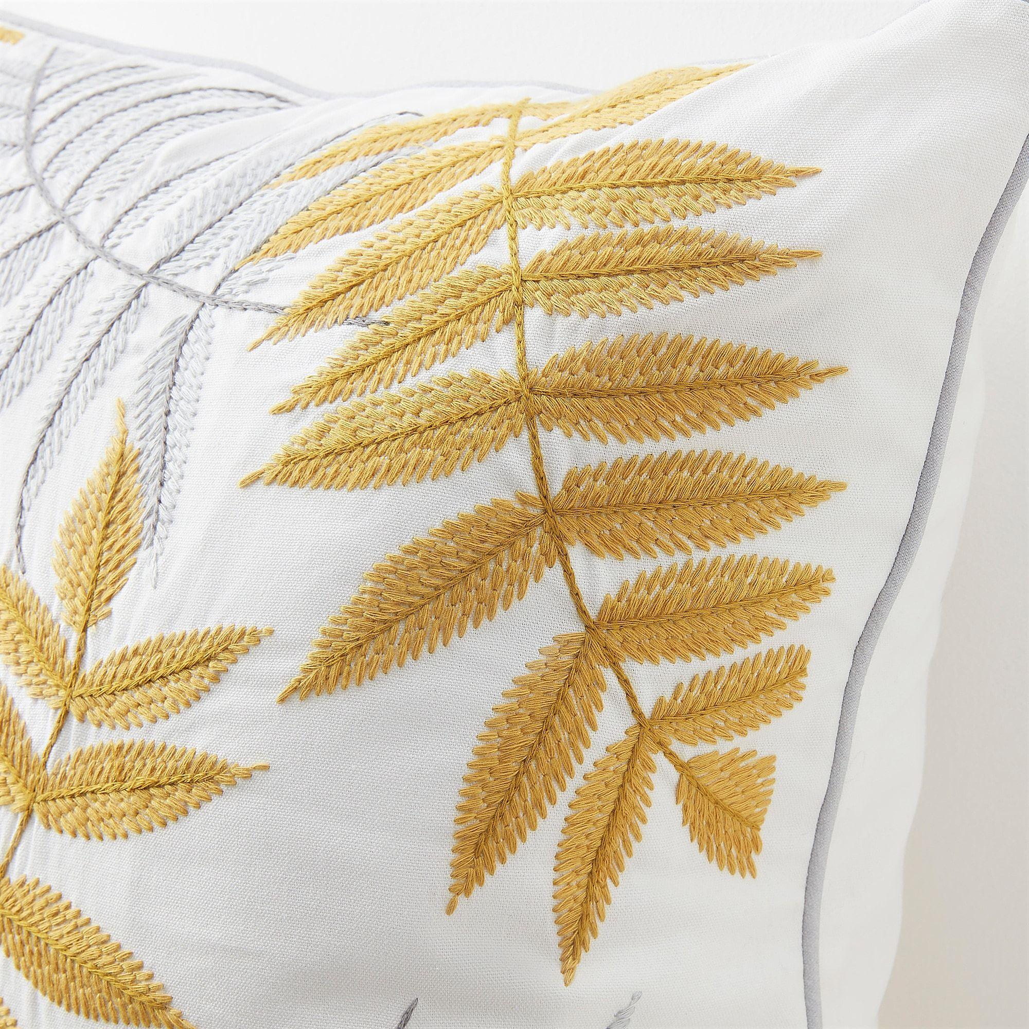 Backklover Kissenbezug Blatt Gelb Grau Ikea Osterreich