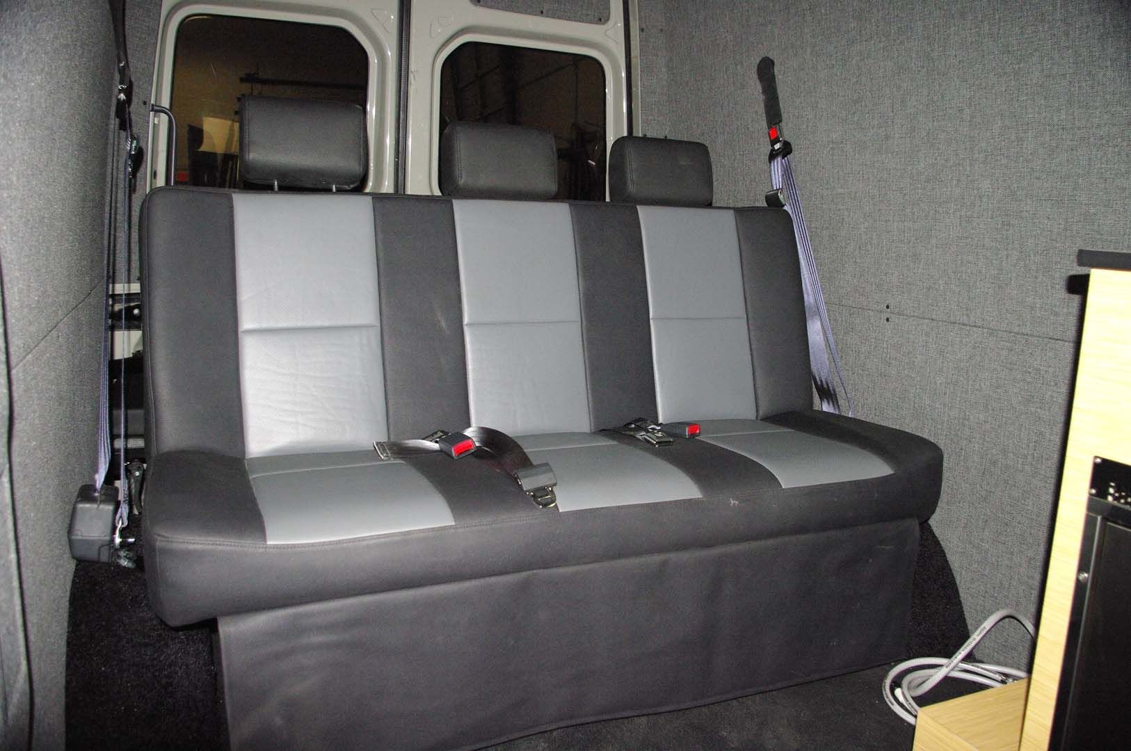 Bench Seat Converts To Bed Camper Van Conversion