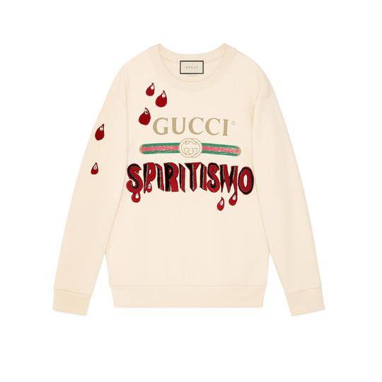 12428f285 Gucci - Gucci logo Spiritismo sweatshirt | KNITWEAR ETC ...