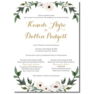 One Sided Wedding Invitations 139 One Sided Discount Wedding Invitations Utah Wedding Invitations Beautiful Wedding Announcements