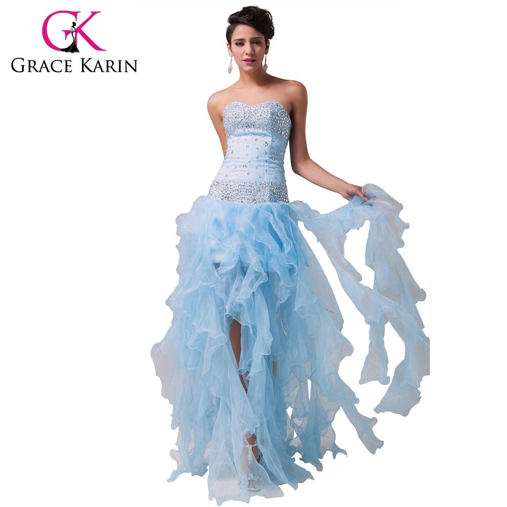 watch now grace karin evening dress organza light blue ball