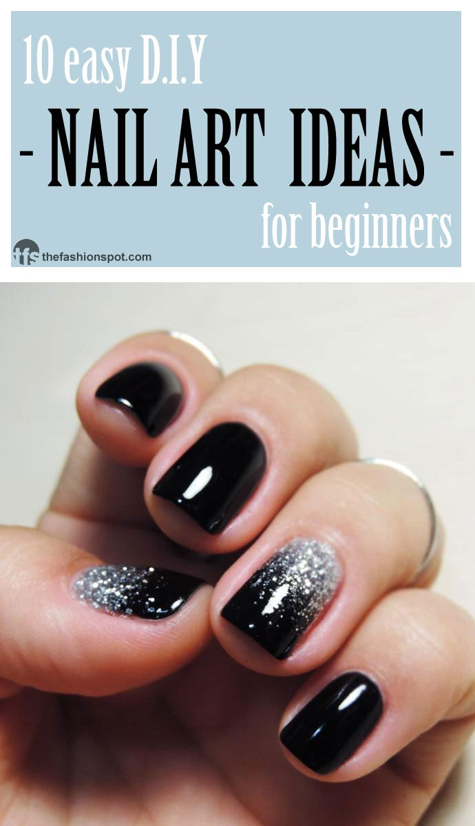 21 Easy DIY Nail Art Ideas for Beginners | Diseños de uñas, Uñas ...