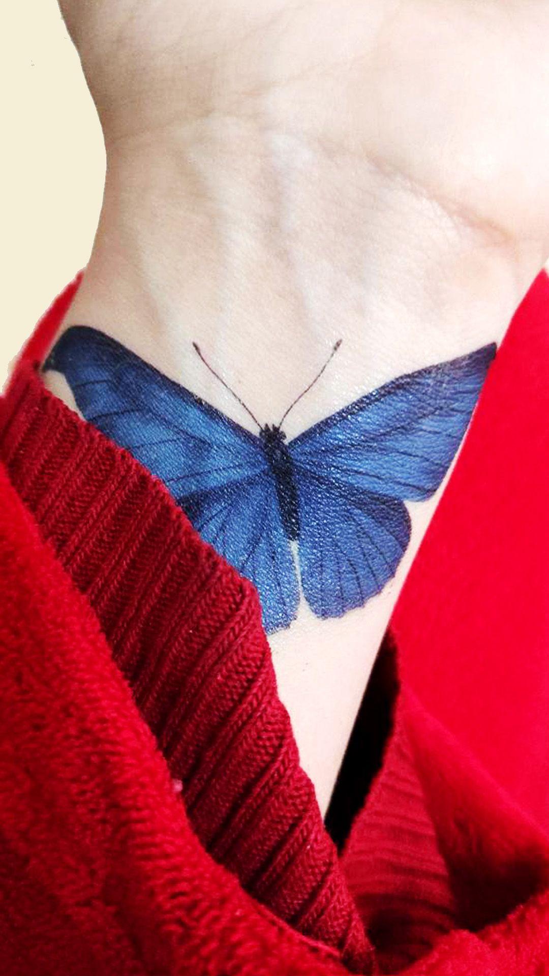 تاتو الفراشة الزرقاء Tattoos Triangle Tattoo