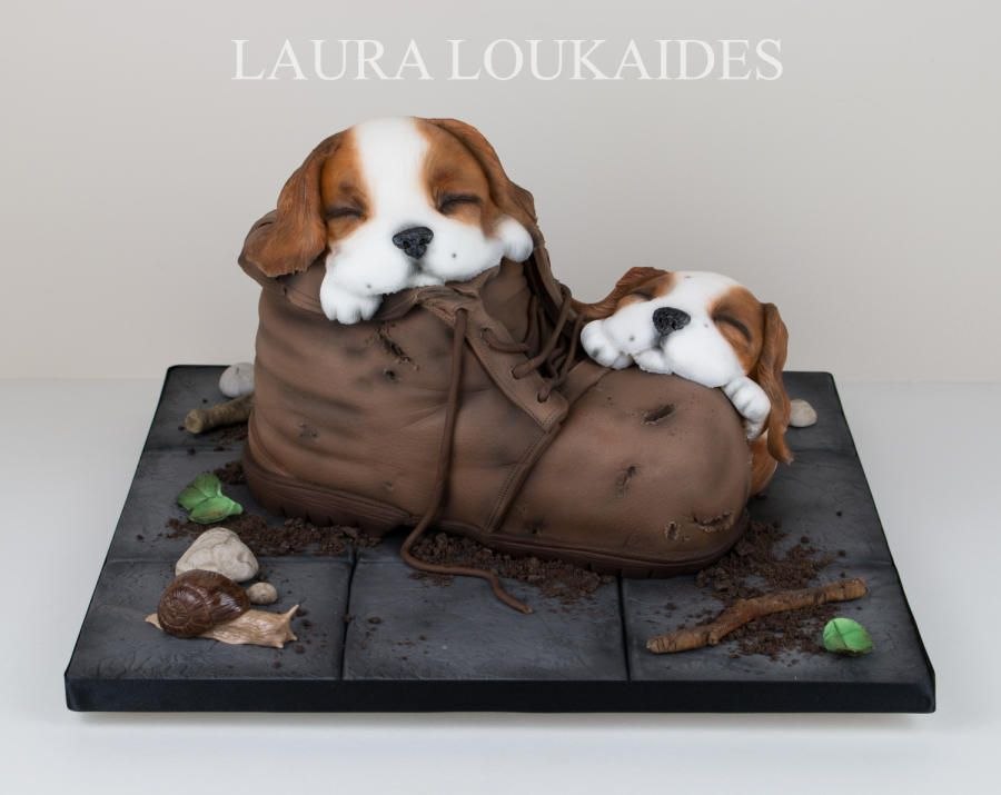 I Had Been Wanting To Re Make My Previous Puppy Boot Cake For Some