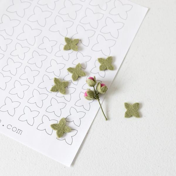 Succulent Artichoke Petal - Printable PDF Template #feltflowertemplate