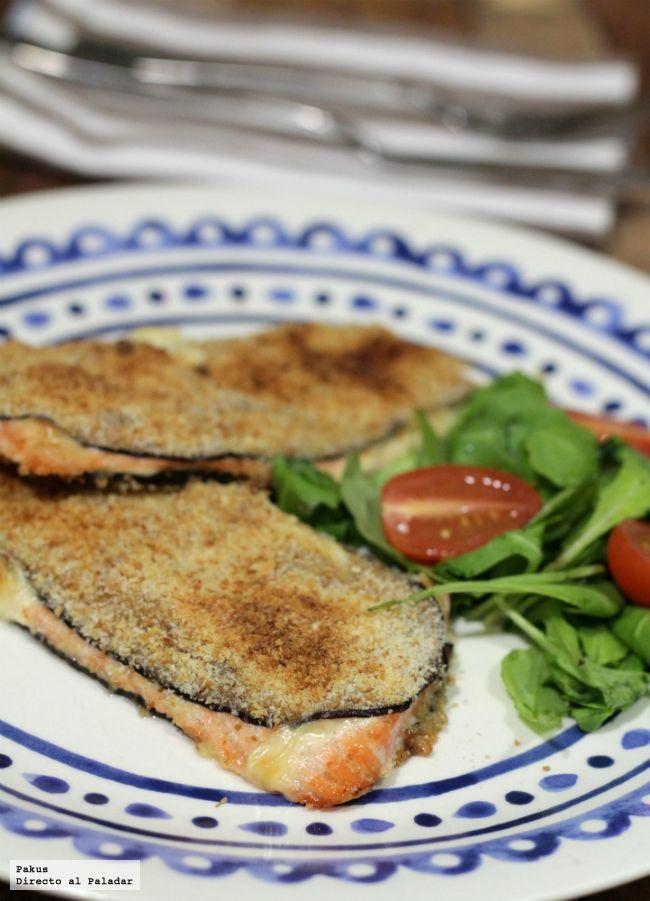San Jacobos De Berenjena Rellena De Salmón Receta Chicken Parmesan Recipe Easy Food Cooking