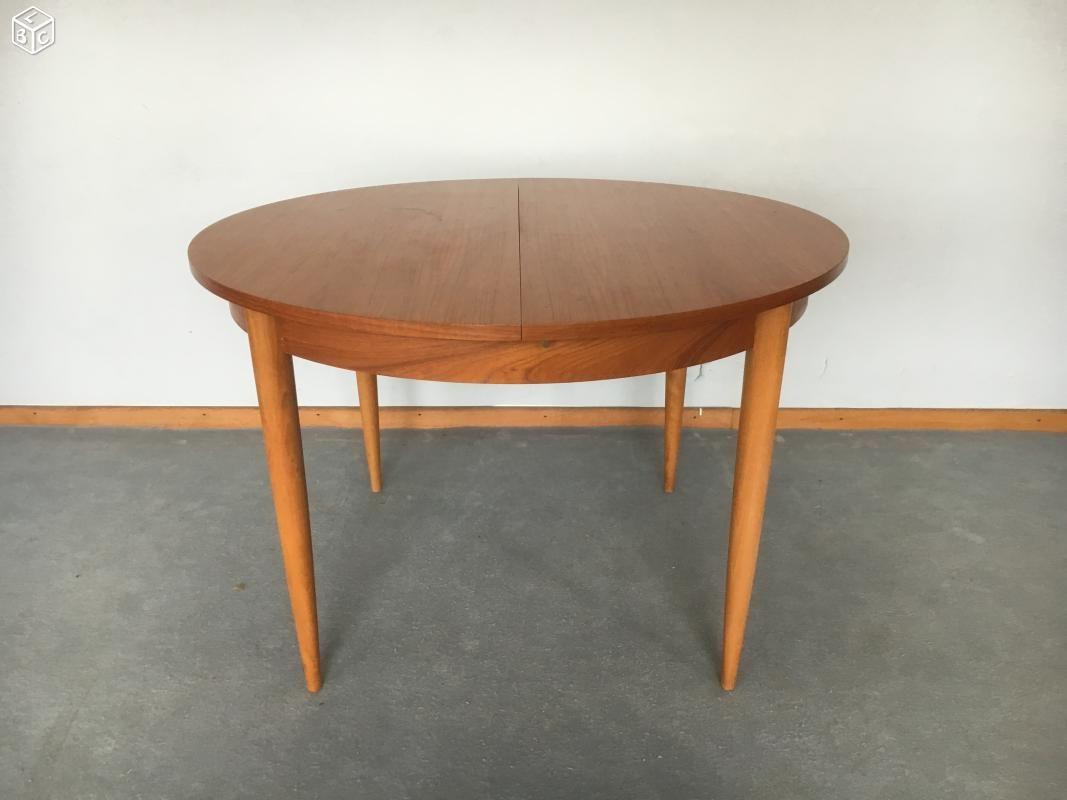 Table Ronde Scandinave En Teck Vintage Appartement Pinterest  # Secretaire Scandinave Rangement Multi Taille
