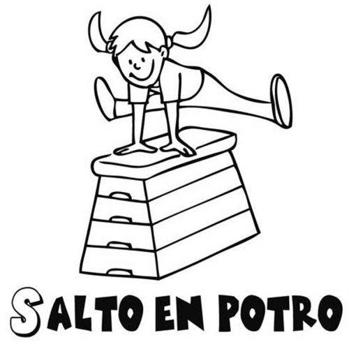 Dibujo De Salto Del Potro Para Colorear Deportes Para Colorear Dibujos Para Colorear Deportes Dibujos