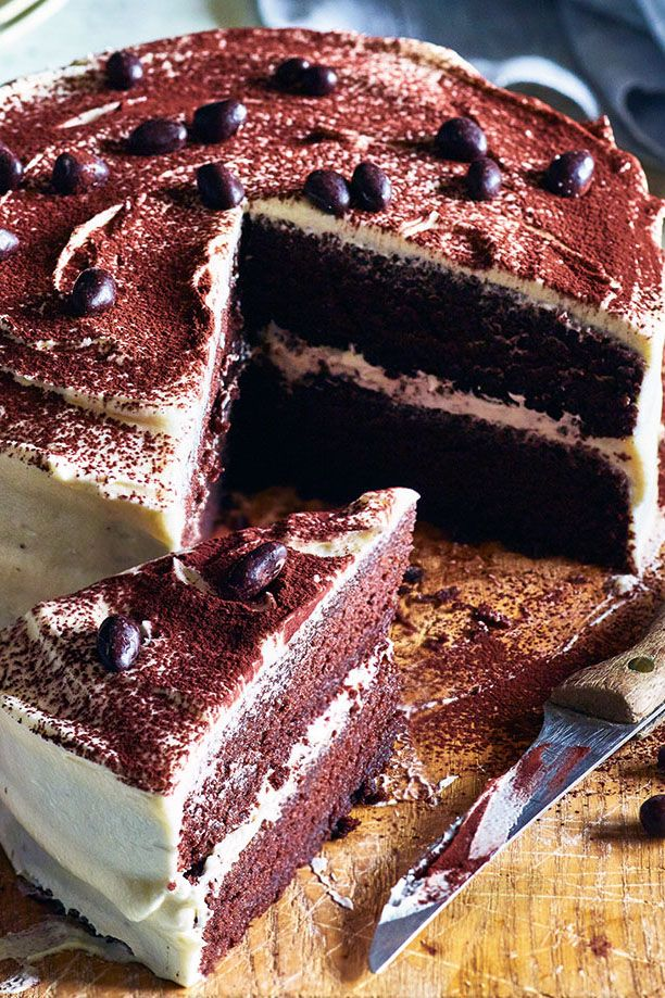 Cappuccino cake with mallow fluff frosting Recipe