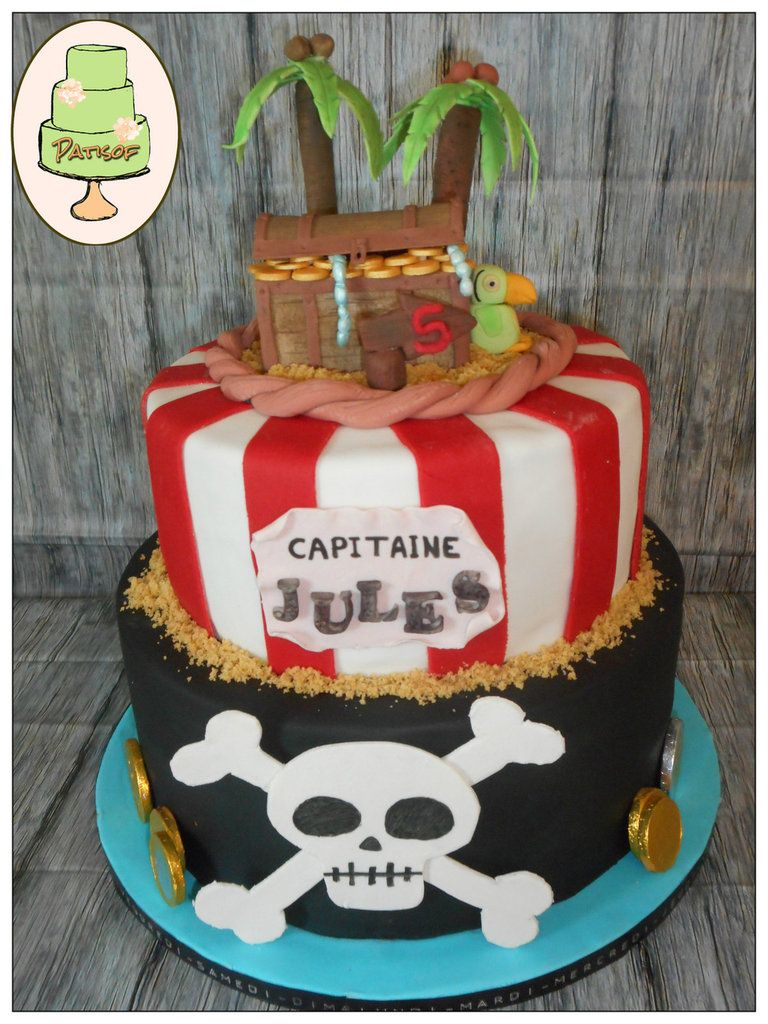 g teau pirates patisof cakes gateau pirate gateau. Black Bedroom Furniture Sets. Home Design Ideas