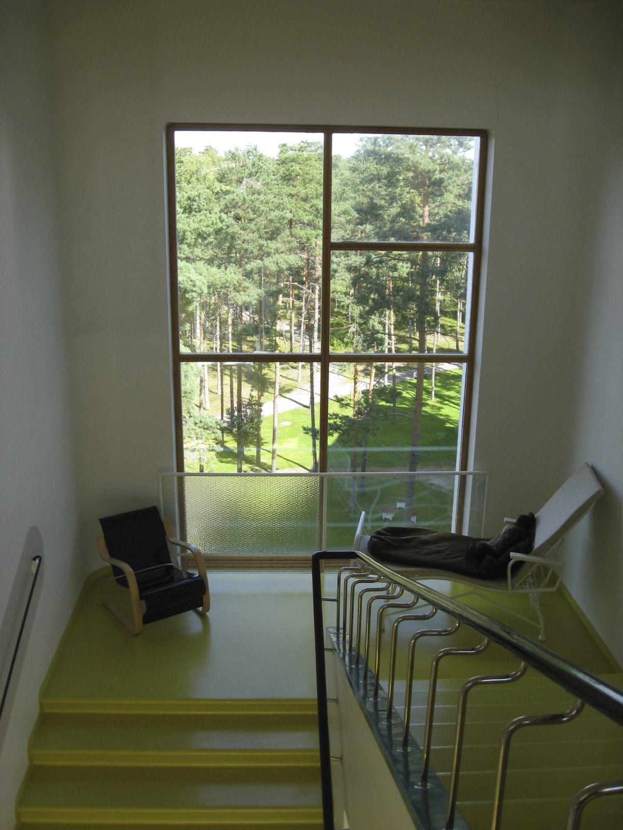 Best The Stair Landing Window At Alvar Aalto S Paimio 640 x 480