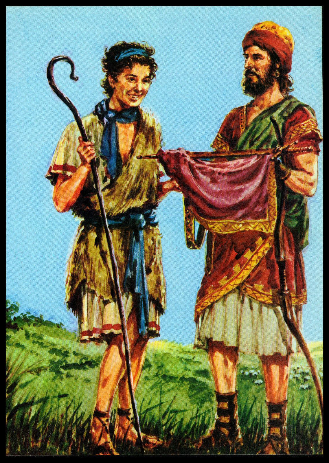 vintage 1974 quotdavid and jonathanquot bible book page art by