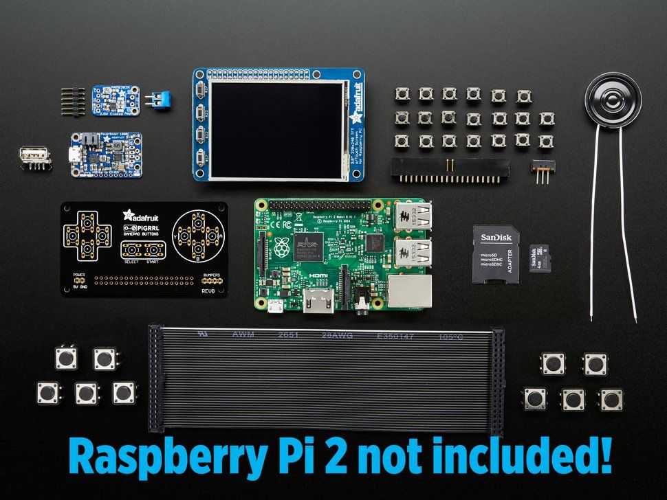 PiGRRL 2.0 Kit Pack - Build your own Pi Game Emulator | Diy ...