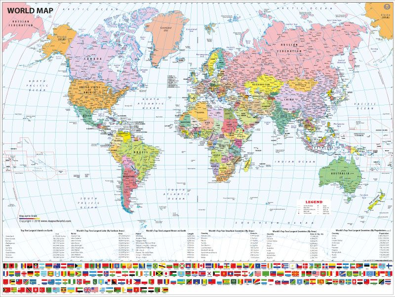 World map with countries flags flags from all over the world world map with countries flags gumiabroncs Choice Image