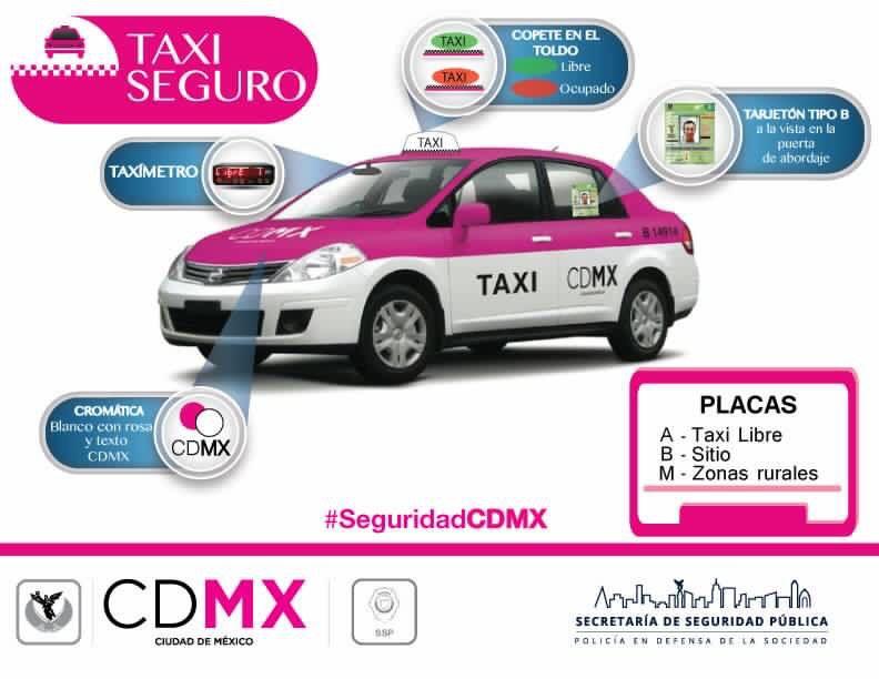 Resultado de imagen de taxi seguro mexico
