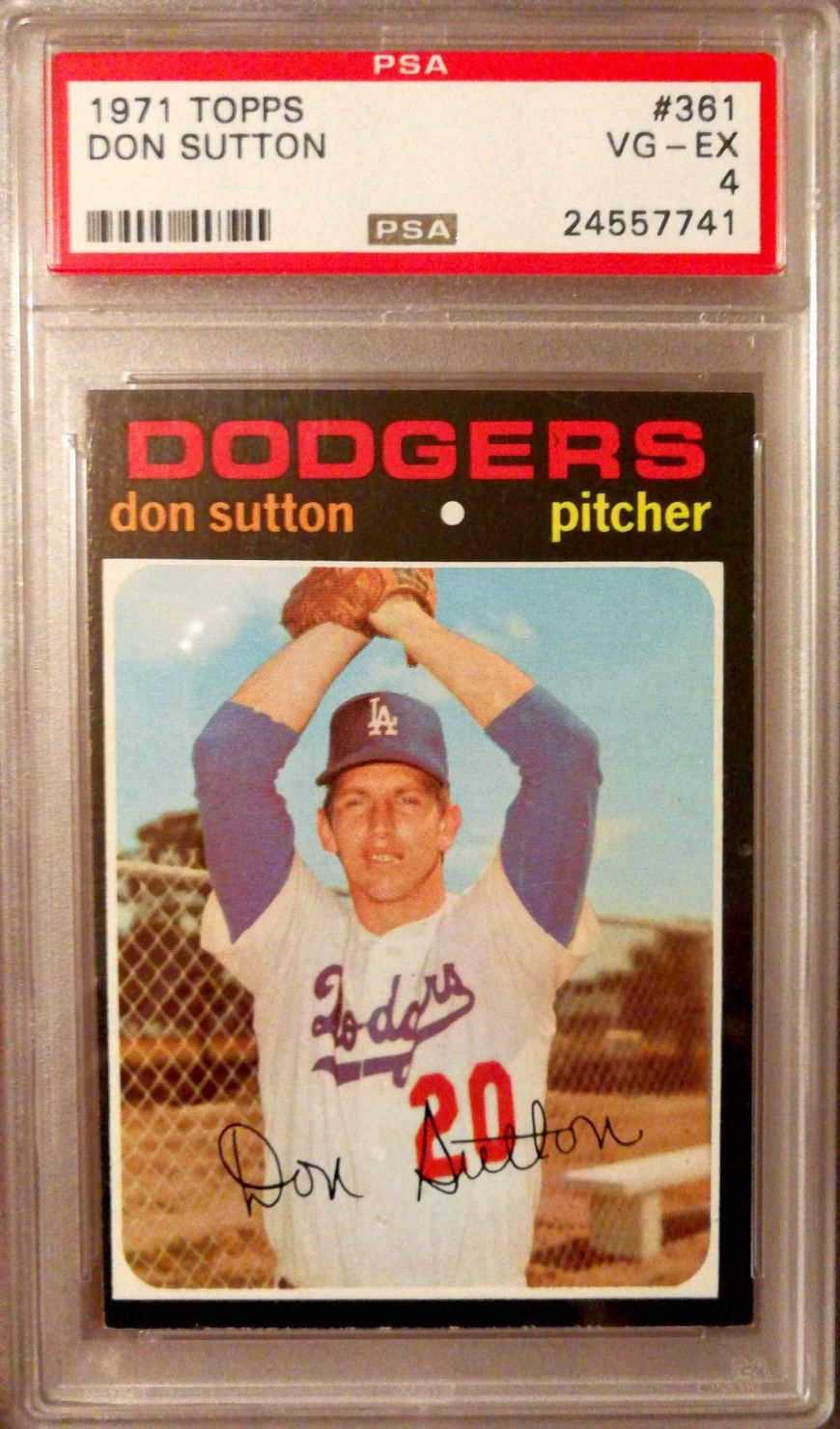 1971 topps don sutton los angeles dodgers baseball