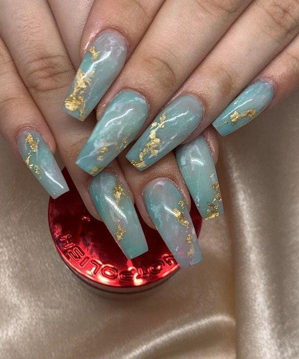 50 Gorgeous Jade Nail Designs You Will Love Jade Nails Pretty Acrylic Nails Green Nails